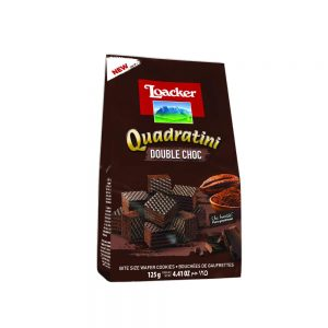 Loacker Quadratini -Double choco Bite Size Wafer Cookies 125g
