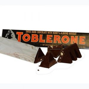 Toblerone Swiss Dark Chocolate with Honey & Almond Nougat